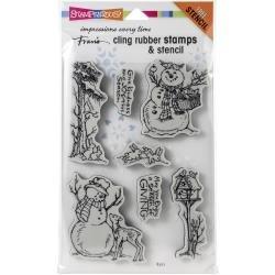 Giving Snowmen Stamp & Stencil Set