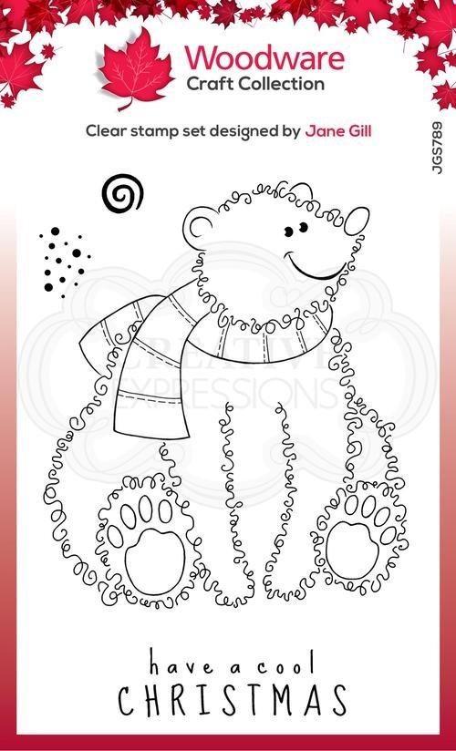 Festive Fuzzies Polar Bear Stamp