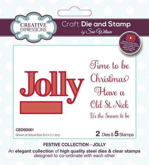 Festive Jolly Stamps & Die Set