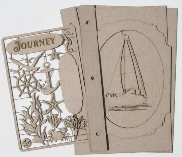 Sail Boat Journal Kit Chipboard
