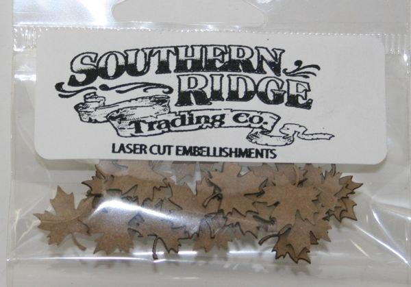 Itty Bitty Kraft Maple Leaves Chipboard