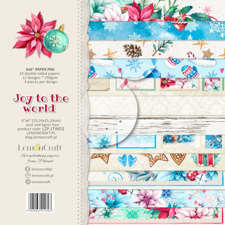 Joy To The World Paper Pad 6 X 6