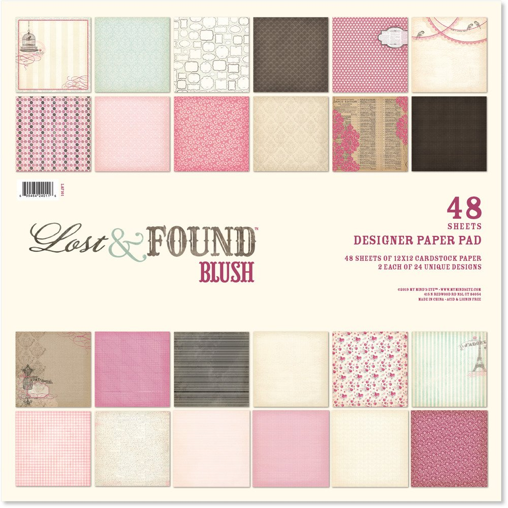 Lost & Found Blush Paper Pad 12x12