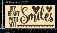 My Heart Smiles With You Chipboard Title