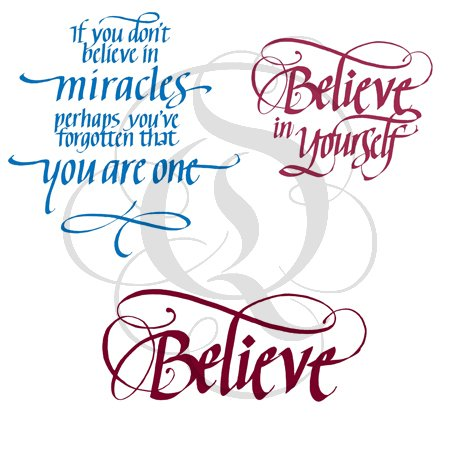 If You Don't Believe In Miracles Stamp Set