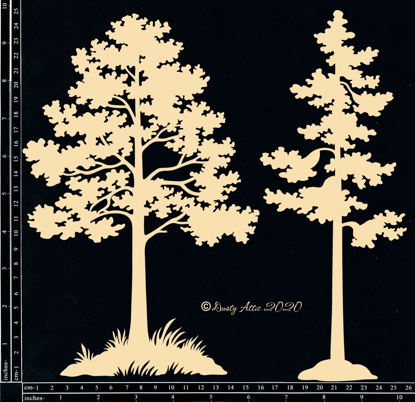 Park Trees Chipboard
