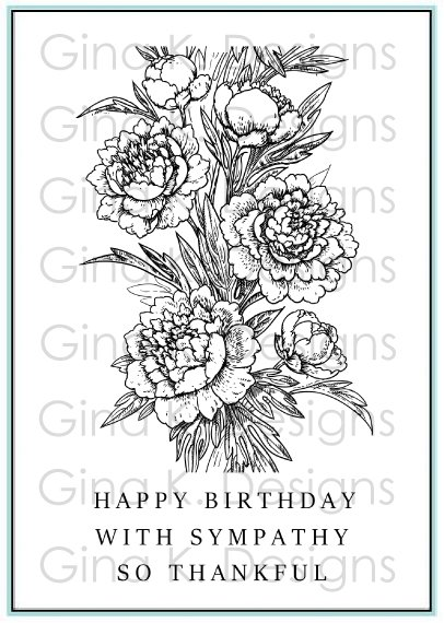 Peony Wishes Stamp Set