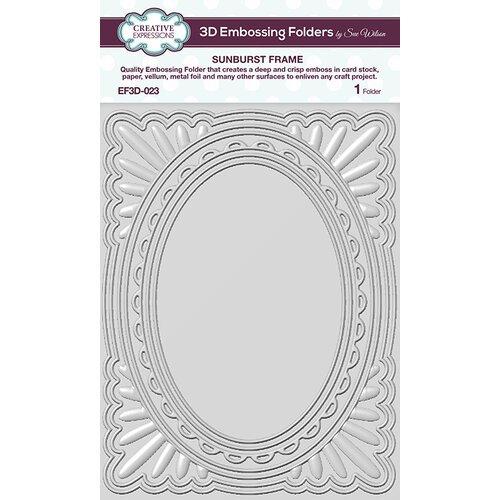 3D Sunburst Frame Embossing Folder