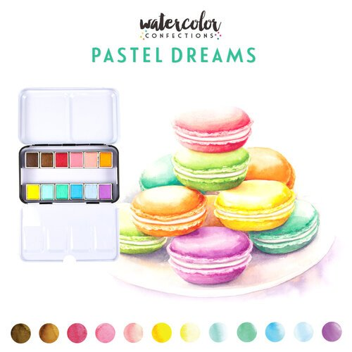 Prima Watercolor Confections Pans Pastel Dreams