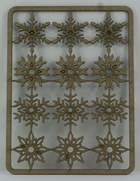 White Snowflakes 712 Chipboard