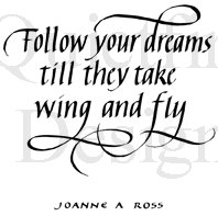 Follow Your Dreams Stamp