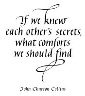 If We Knew Each Other's Secrets Stamp