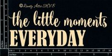 The Little Everyday Moments Chipboard Title