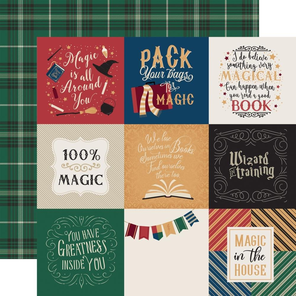Witches & Wizards 4x4 Journaling Cards Paper