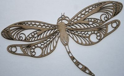Zen Dragonfly Chipboard