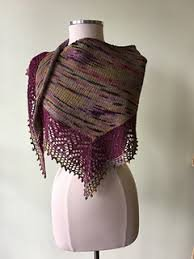 Asymmetrical Silk Lace Border Shawlette- Vijay Fibers