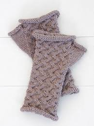 Cabled Mitts - Blue Sky Fibers