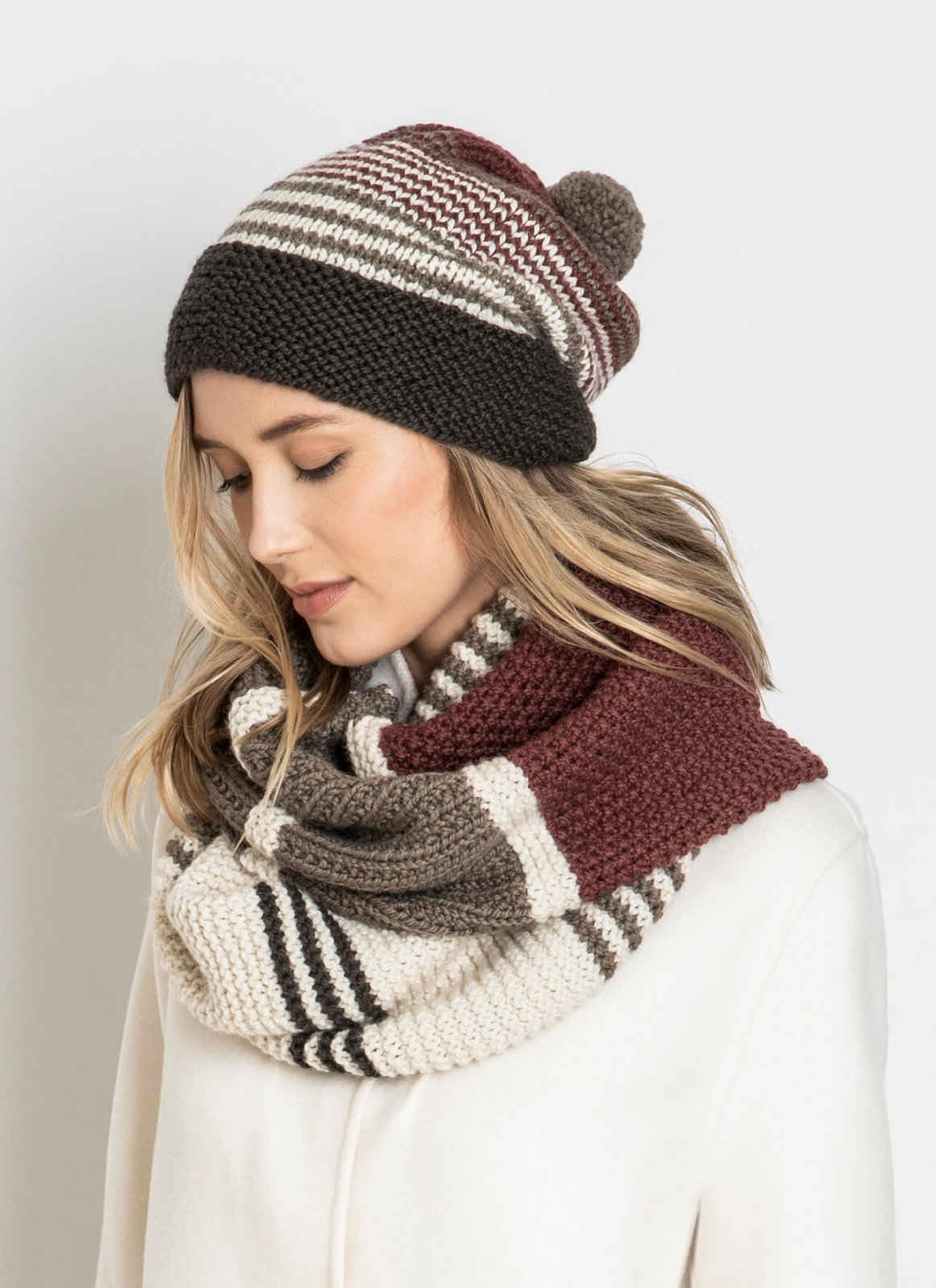 Forest Lake Hat and Cowl