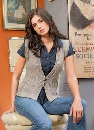 Pleated Vest - Blue Sky Fibers