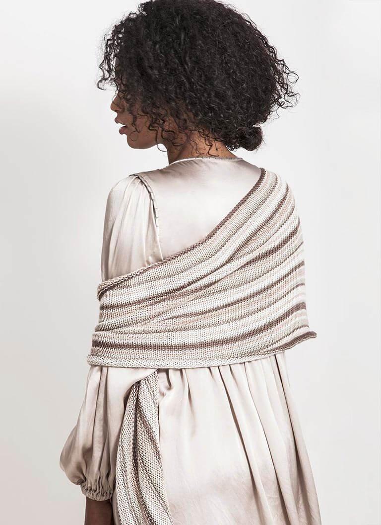 Windom Silk Wrap - Blue Sky Fibers