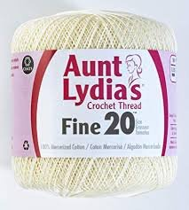 Aunt Lydia Fine Crochet Thread Fine 20 Cream