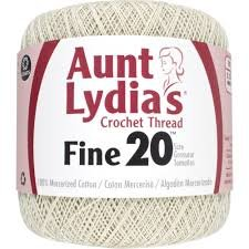 Aunt Lydia Fine Crochet Thread Size 20 Natural