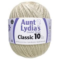 Aunt Lydias Crochet Thread-Classic 10-Natural