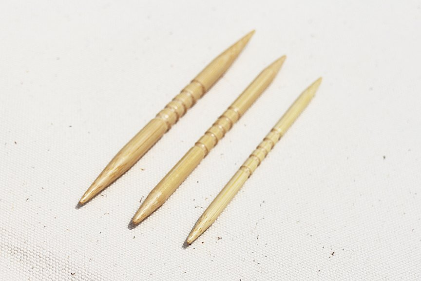 Bamboo Cable Needles Grooved