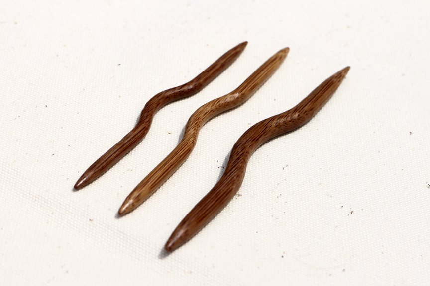 Bamboo Cable Needles Curved