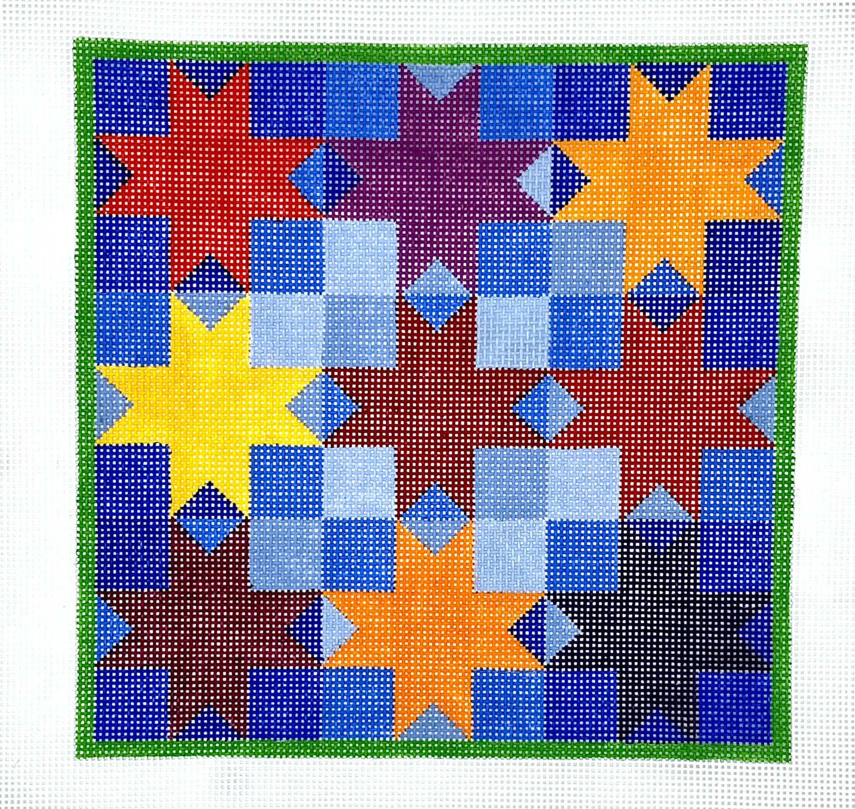 "8-Pointed Star/Quilt/Tic Tac Toe C - 13m - 9""x9"
