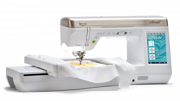 Aerial Sewing/Embroidery Machine