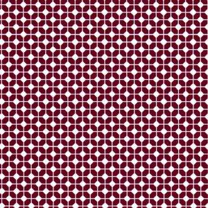 Geometric: Maroon and White