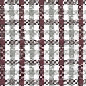 Maroon, White and Grey Check