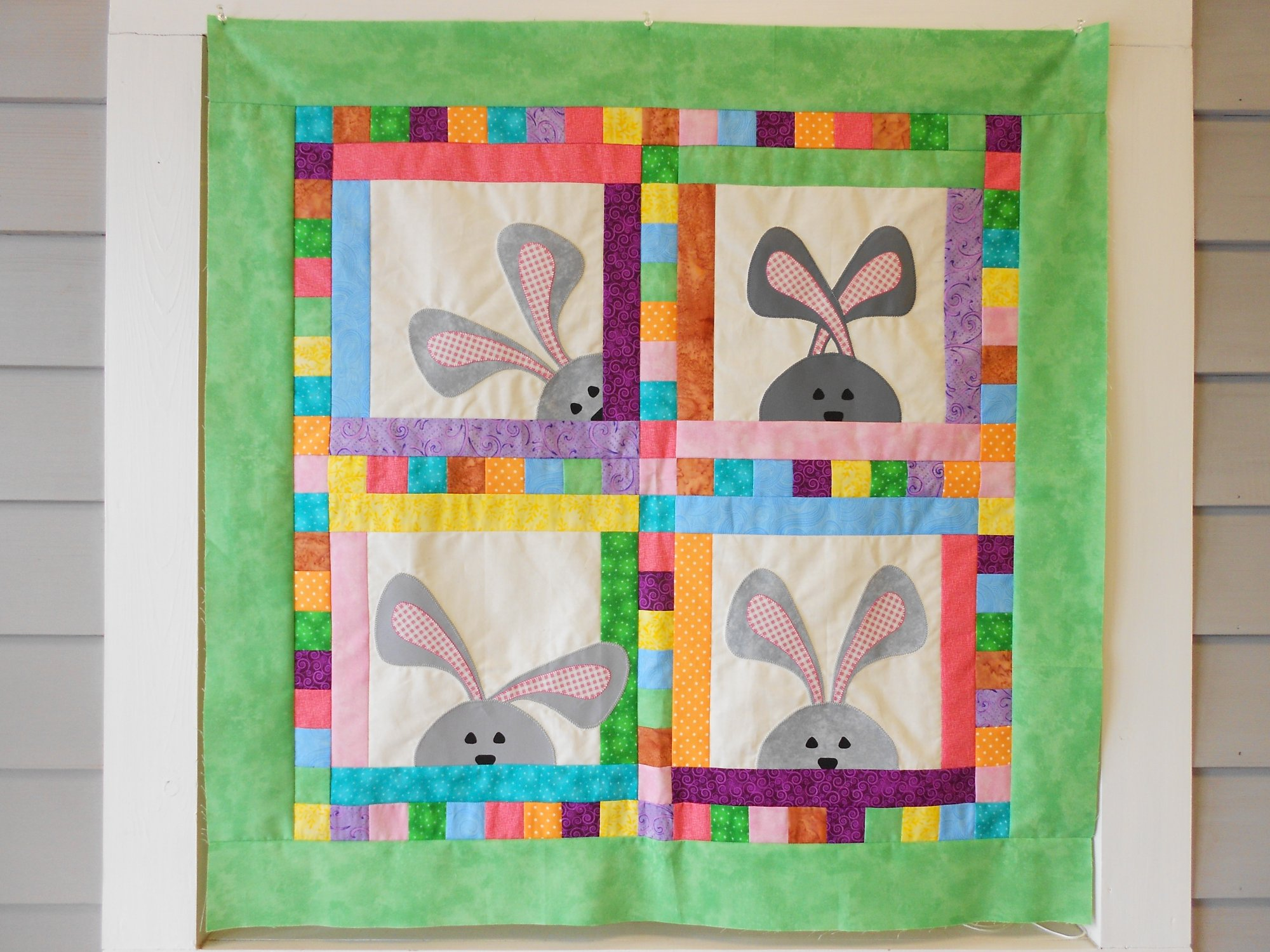 Peek-A-Boo Bunnies Wall Hanging