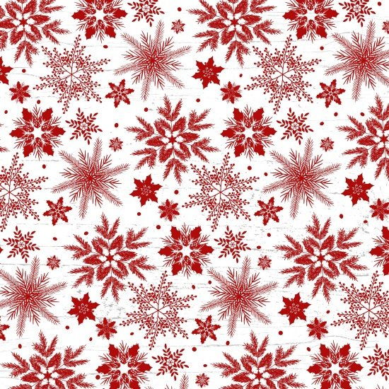 Holiday Homecoming red/white snowflakes