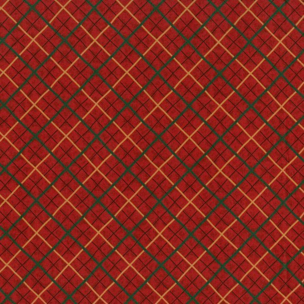 Red/Green/Gold Plaid - Thimbleberries
