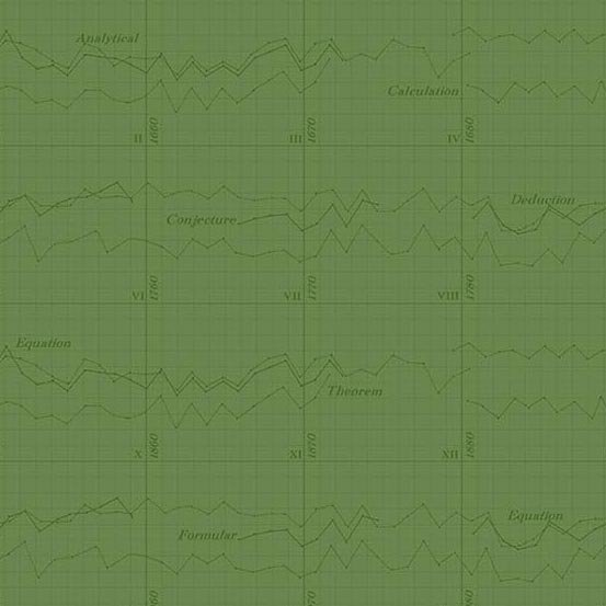 Color Theory Graph in Dark Green
