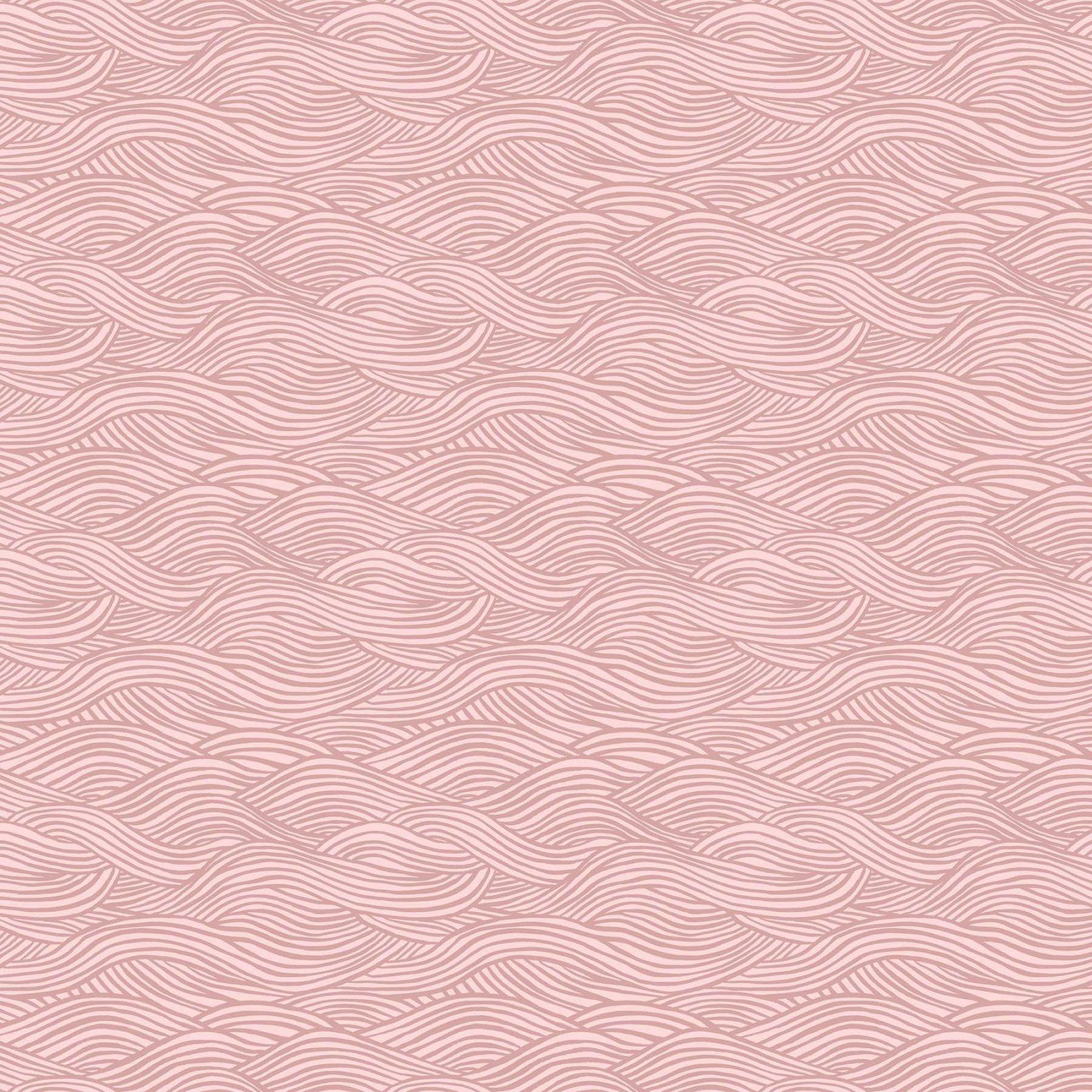 Moonlit Voyage Waves in Pink