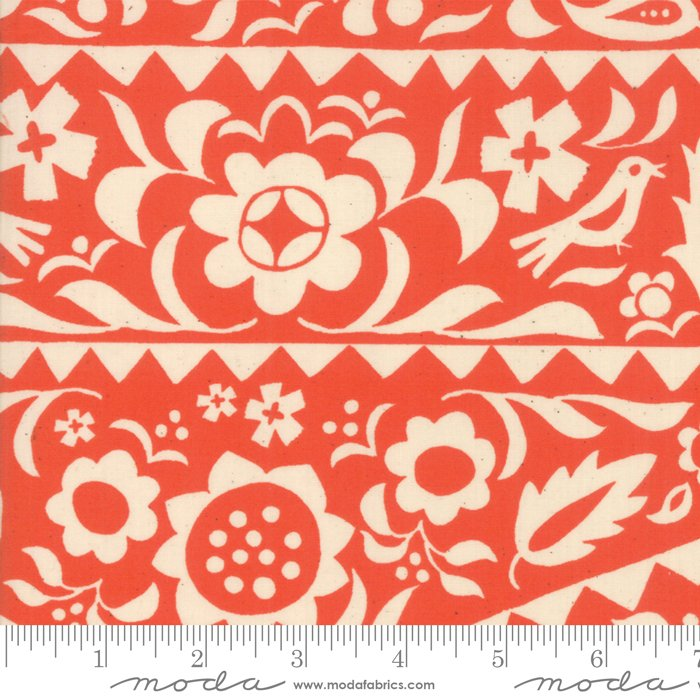 Alma Market Floral in Warm Red