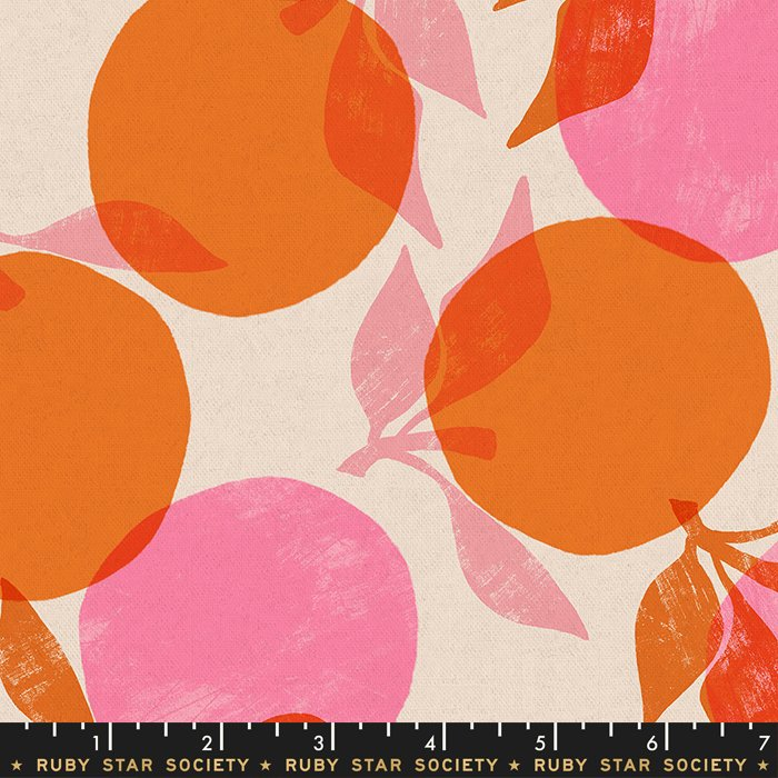 Cotton Linen Canvas in Orange