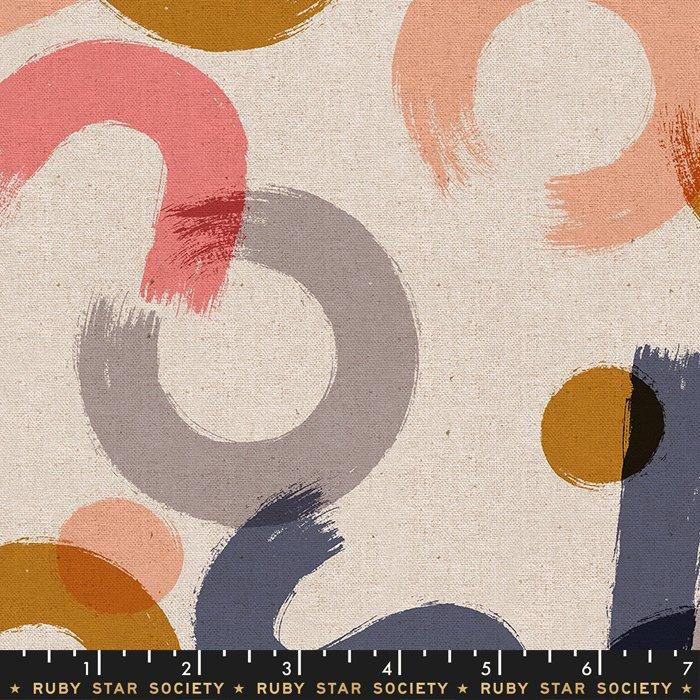 Cotton Linen Canvas in Blush