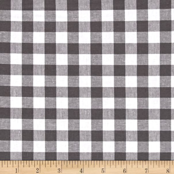 Checkers Half Inch Gingham in Chalkboard