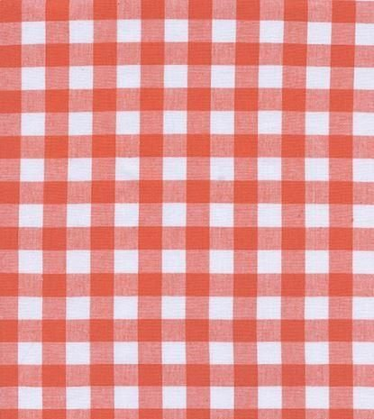 Checkers Half Inch Gingham in Coral