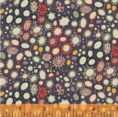 Fantasy Dot Floral in Shawdow
