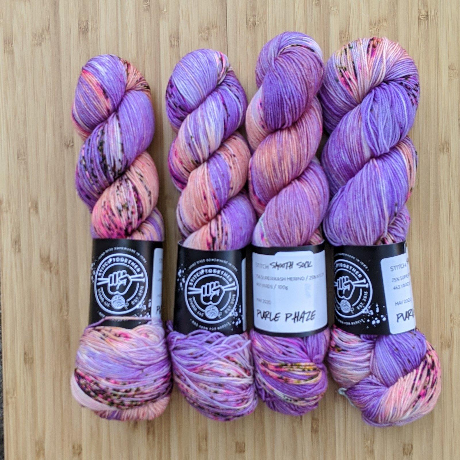 Stitch Smooth Fingering in Purple Phaze