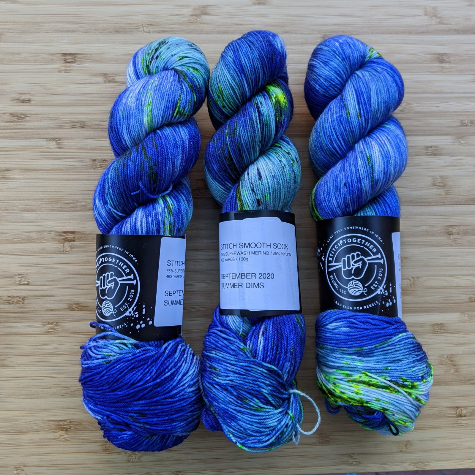 Stitch Smooth Fingering in Summer Dims