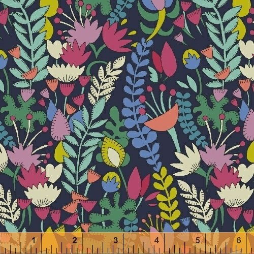 Fantasy Lawn Small Floral in Navy