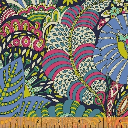 Fantasy Lawn Large Floral in Navy