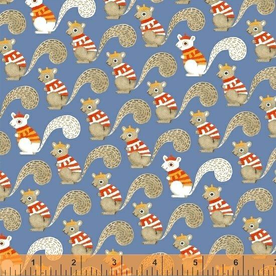 Sweet Oak Squirrels in Blue