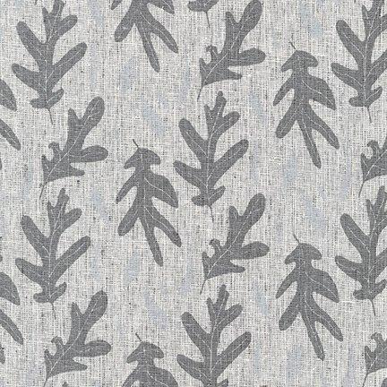 Quarry Trail Oak Leaves in Charcoal